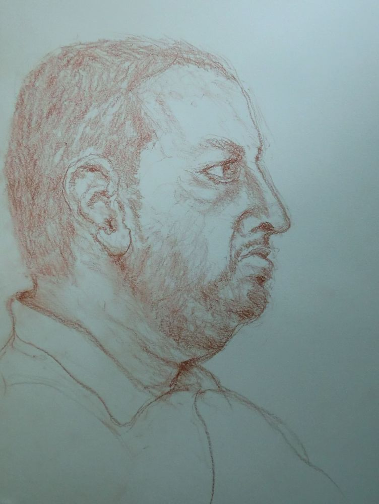 Portraitstudie (1) Rötel ca.40x30cm