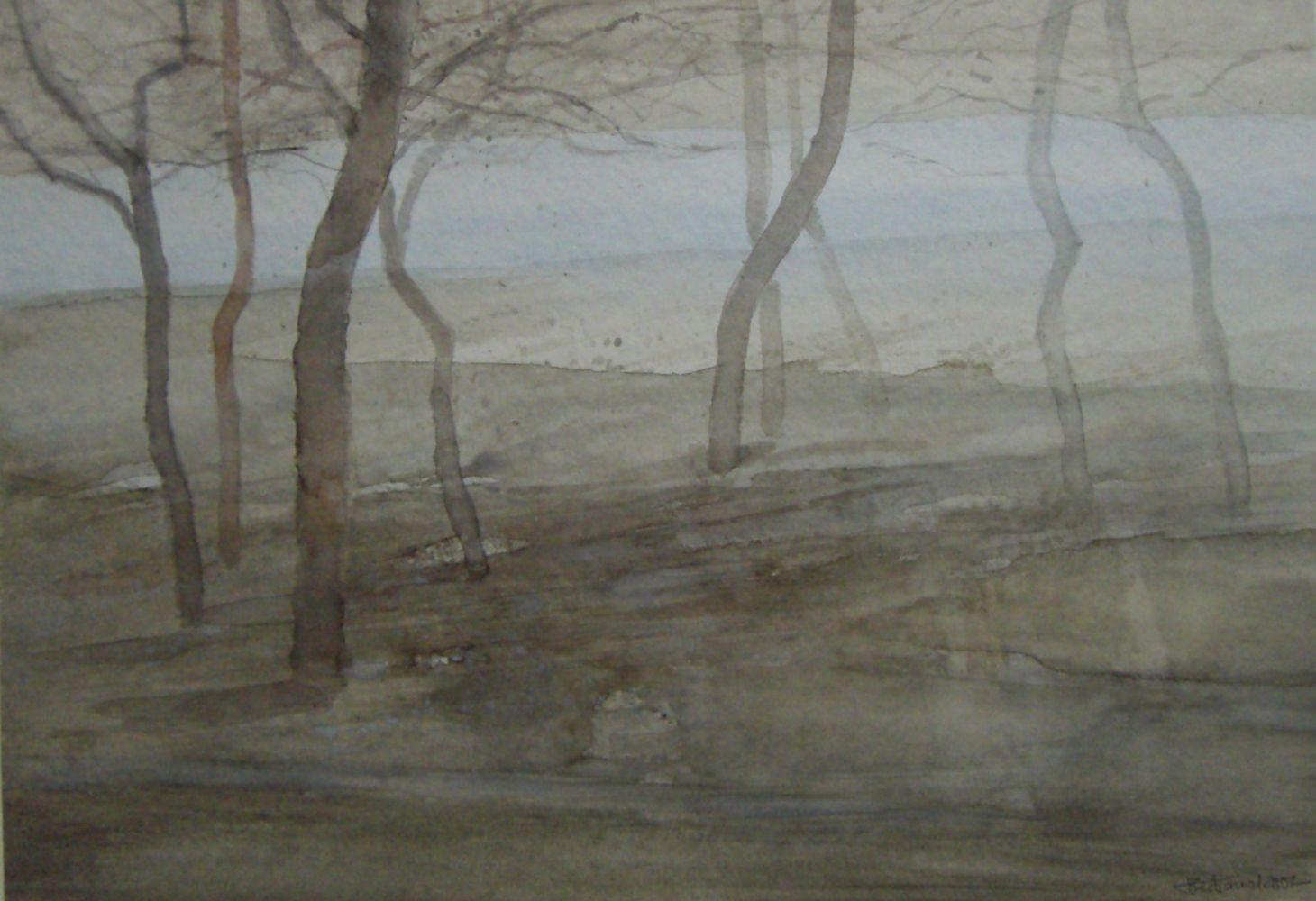 """""""Tanz der Bäume""""  Aquarell 28x39cm"""