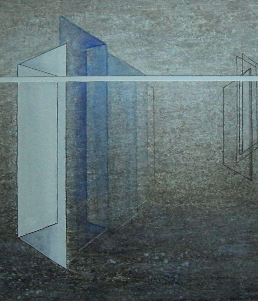 o.T. Aquarell+Monotypie  28x28cm
